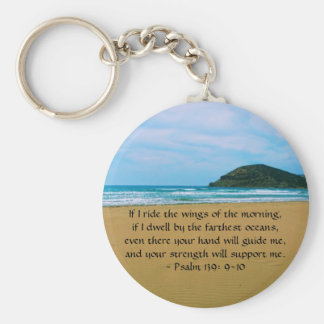 Psalm 139: 9-10 BEAUTIFUL BIBLICAL QUOTATION Basic Round Button Keychain