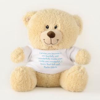 Psalm 139 Blue Teddy Bear