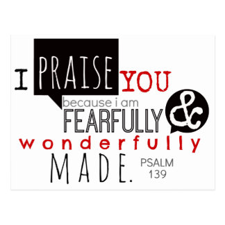 Psalm 139 - I Praise You Postcard