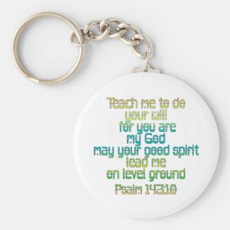 Psalm 143:10 keychain