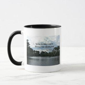 Psalm 143:8 Let the morning bring me word.... Mug