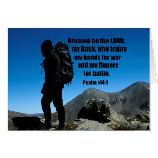 Psalm 144:1 Blessed be the Lord my rock who Card