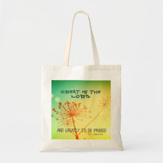 Psalm 145:3 Great is the Lord, Bible Verse Tote Bag