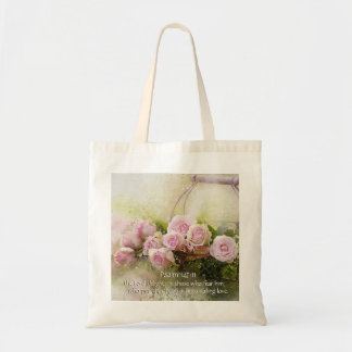 Psalm 147:11, Bible Verse, Basket of Pink Roses,