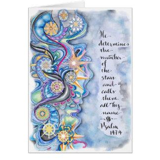 Psalm 147:4 Blank Greeting Card