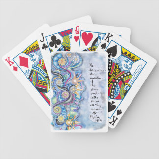 Psalm 147:4 He Calls The Stars by Name Bicycle Playing Cards