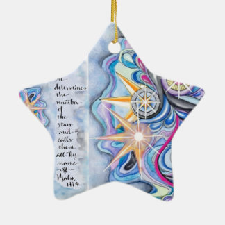 Psalm 147:4 He Calls The Stars by Name Ceramic Ornament