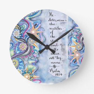 Psalm 147:4 He Calls The Stars by Name Clocks