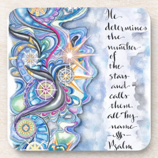 Psalm 147:4 He Calls The Stars by Name Coaster