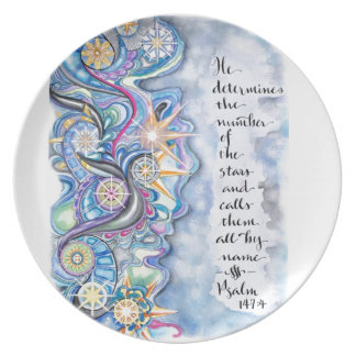 Psalm 147:4 He Calls The Stars by Name Plate
