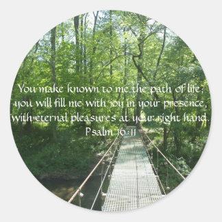 Psalm 16:11 French Creek Bridge Classic Round Sticker