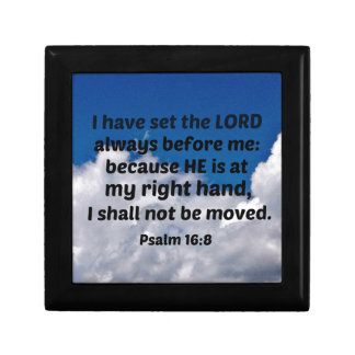 Psalm 16:8 I have set the Lord always before me Gift Box