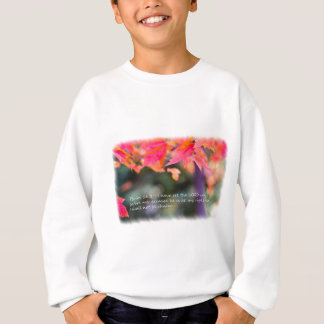 Psalm 16:8 on Fall leaves Sweatshirt