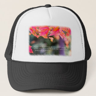 Psalm 16:8 on Fall leaves Trucker Hat