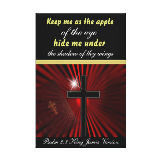 Psalm 17:8 Keep me as the apple of the eye... Canvas Print