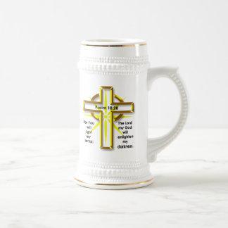 Psalm 18:28 18 oz beer stein