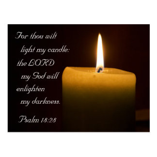 Psalm 18:28 Candle Postcard