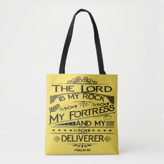 Psalm 18:2 Bible Verse Tote Bag