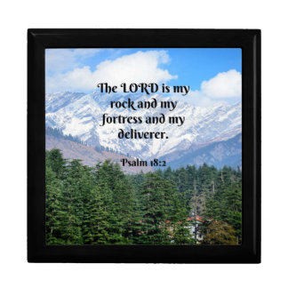 Psalm 18 2, The Lord is my rock and my fortress... Gift Box