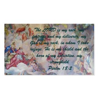 Psalm 18:2 Witness Card Business Card