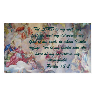 Psalm 18:2 Witness Card Pack Of Standard Business Cards