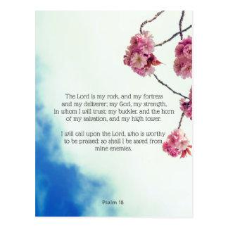 Psalm 18, Christian postcard