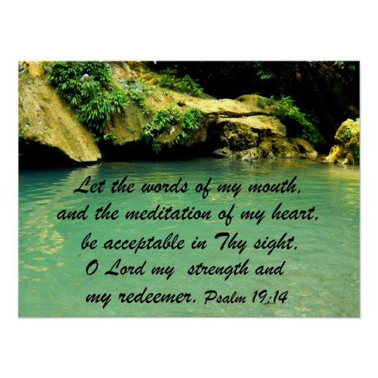 Psalm 19:14 poster