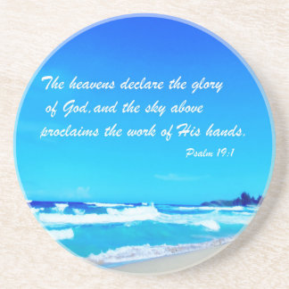 Psalm 19:1 drink coasters