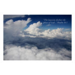 Psalm 19:1 Scripture Poster
