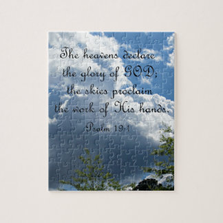 Psalm 19:1 The heavens declare the glory of God Puzzle