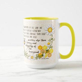 Psalm 19:9-10 Sweeter than Honey Mug