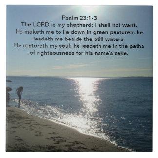 Psalm 23:1-3 tile
