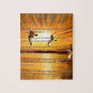 Psalm 23:1-6 The Lord Is My Shepard Jigsaw Puzzle