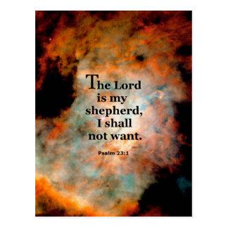 Psalm 23.1 postcard