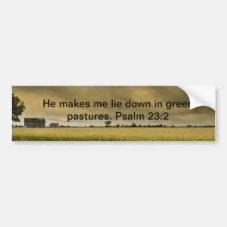 Psalm 23:2 bumper sticker