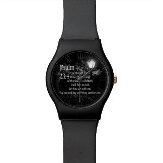 Psalm 23:4  Bible Verse Custom Christian Gift Watch
