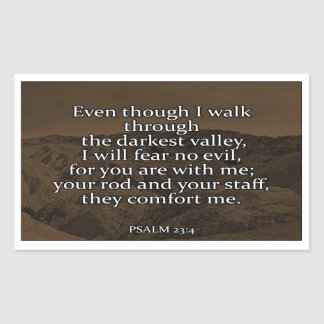 Psalm 23:4 Christian Sticker