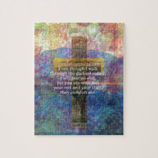 Psalm 23:4 - Even though I walk through... Jigsaw Puzzle