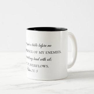 Psalm 23:5 Coffee Mug