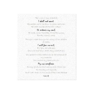 psalm 23 canvas wall art, scripture wall art
