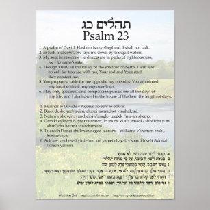 Hebrew Psalm Art & Wall Décor | Zazzle ca