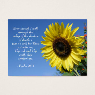 Psalm 23  - Inspirational Quotes - Wallet Card