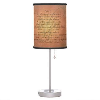 Psalm 23 KJV Christian Bible Verse Desk Lamps