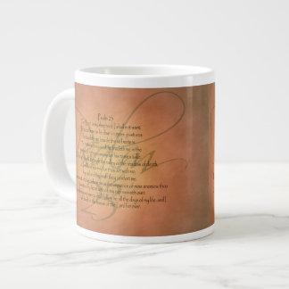 Psalm 23 KJV Christian Bible Verse Giant Coffee Mug