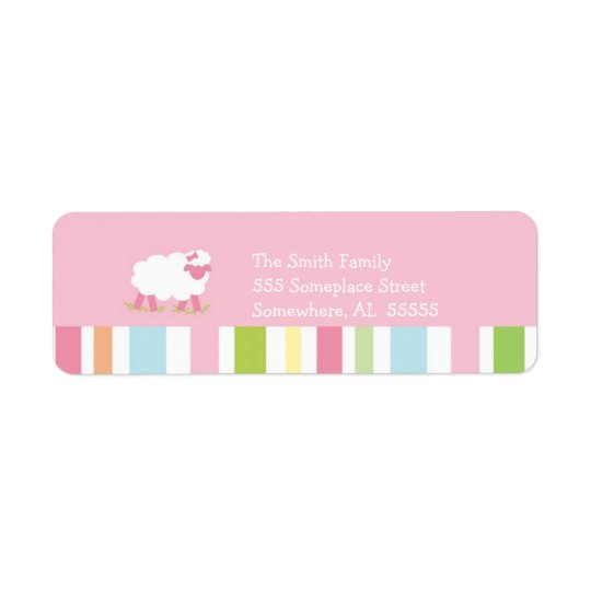 PSALM 23 Little Lamb Girl Return Address Label