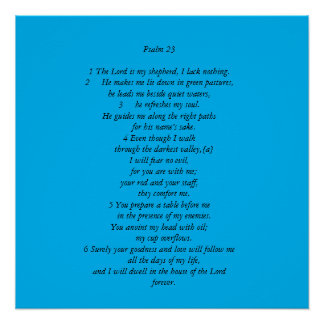 Psalm 23 perfect poster