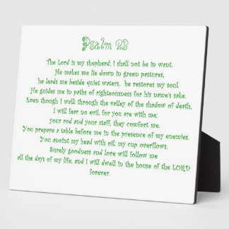Psalm 23 Plaque