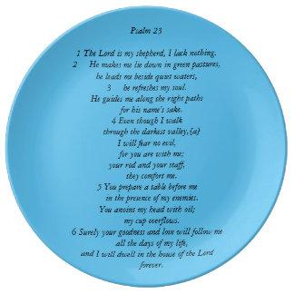 Psalm 23 porcelain plates