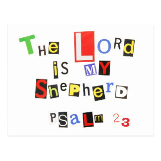 Psalm 23 Ransom Note Postcard