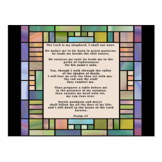 Psalm 23 Stained Glass Postcard